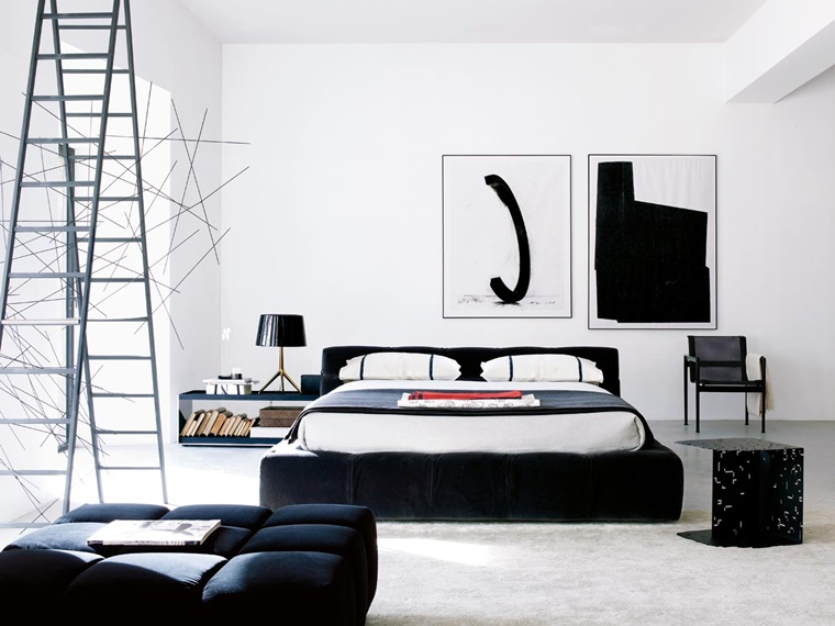 Beautiful Camera Da Letto Moderna Nera Images - Modern Home Design ...