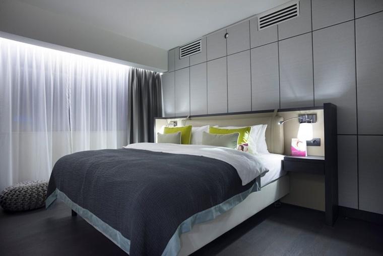 camere da letto moderne colore grigio