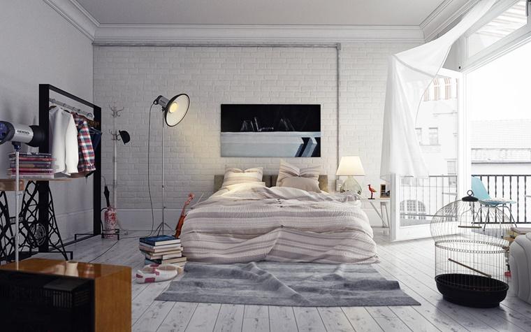 camere da letto moderne idea loft