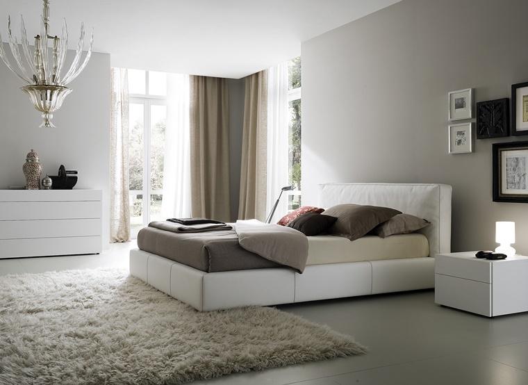 camere da letto moderne idea mobili colore bianco