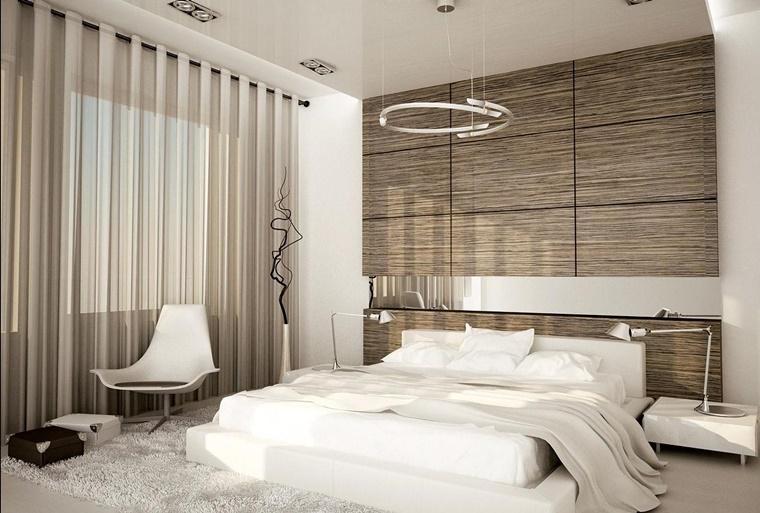 camere da letto moderne idea parete decorativa