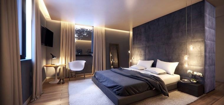 camere da letto moderne idea parete divisoria