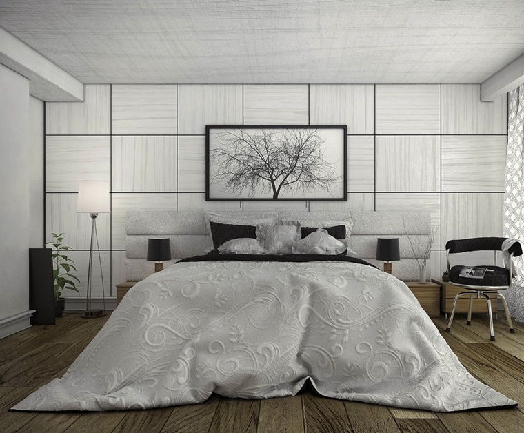 camere da letto moderne idea parete particolare