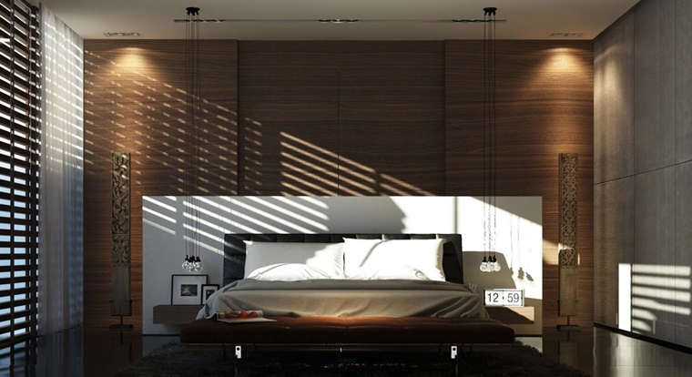 camere da letto moderne illuminazione soffusa