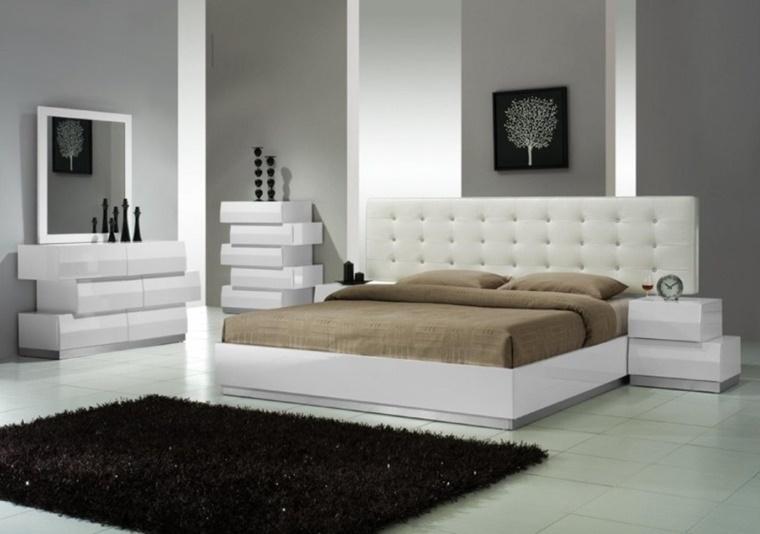 camere da letto moderne mobili colore bianco