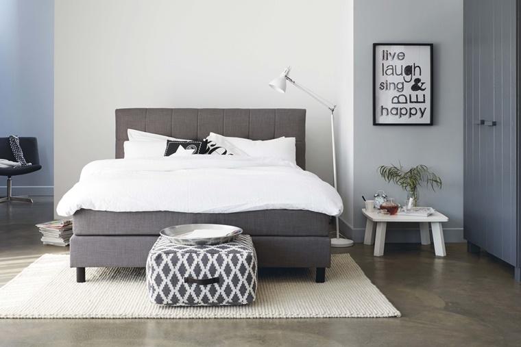 camere da letto moderne mobili colore grigio