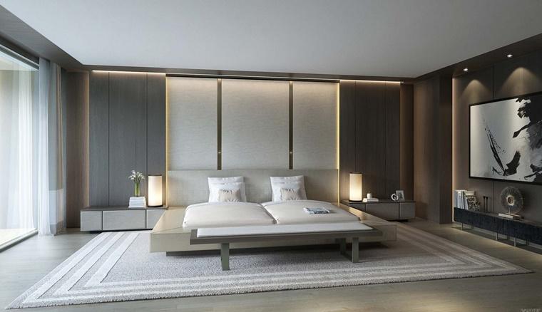 camere da letto moderne molto spaziosa