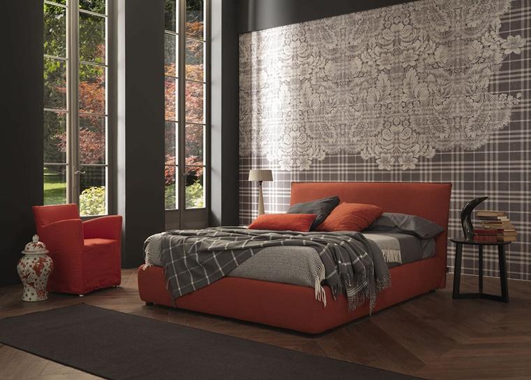 camere da letto moderne parete decorata carta parati