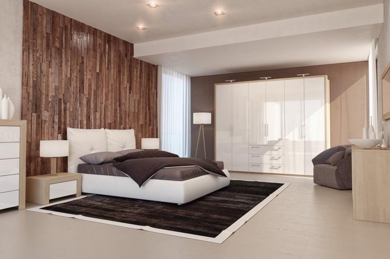 camere da letto moderne parete decorativa
