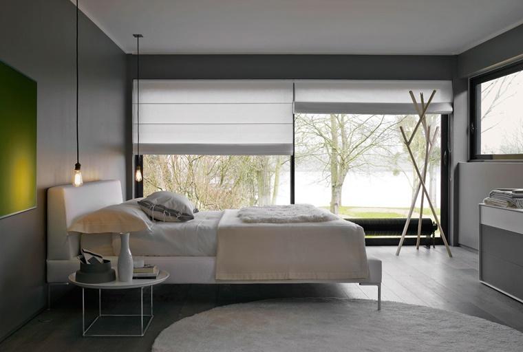 camere da letto moderne pavimento legno