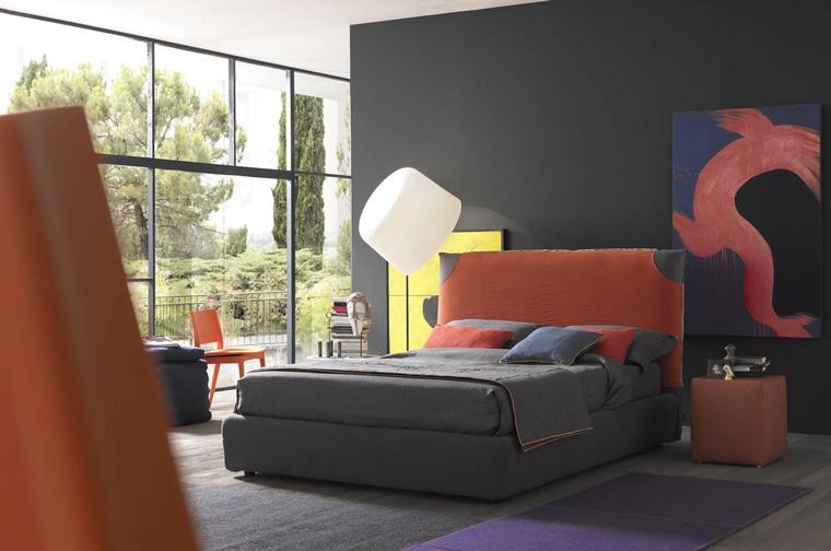 camere da letto moderne tessuto