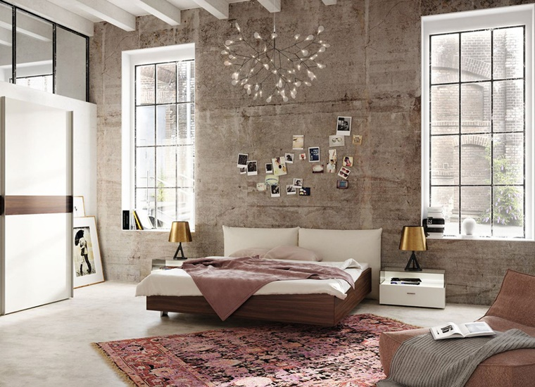 camere da letto moderne travi vista