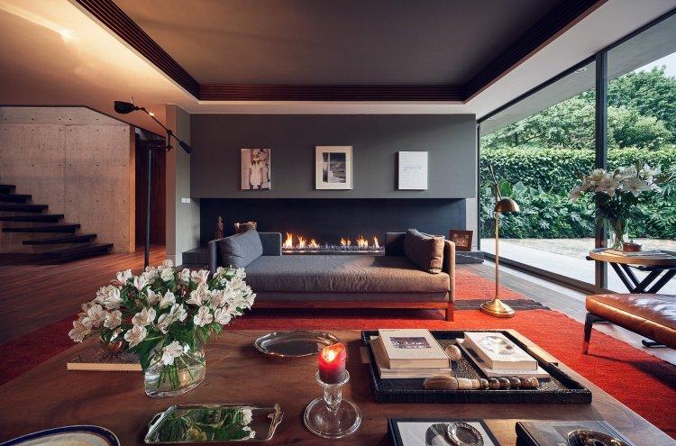 Caminetti moderni nel soggiorno - 18 idee che tolgono il respiro