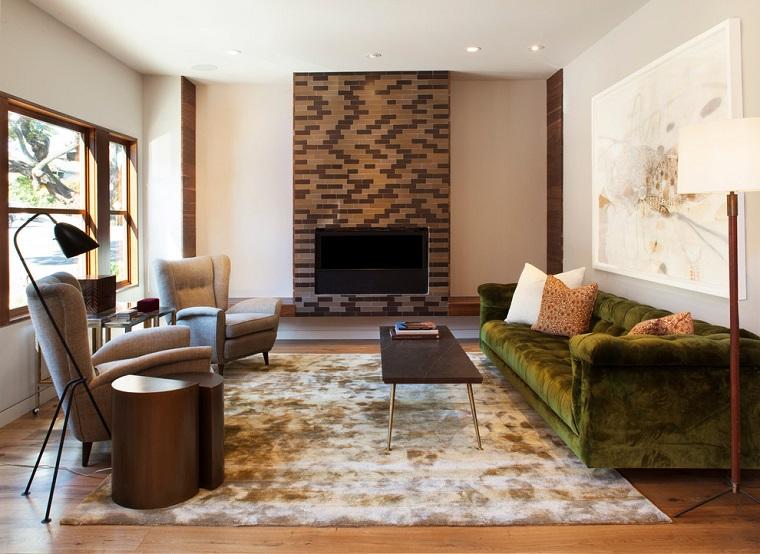 camini in pietra decorato soggiorno contemporaneo