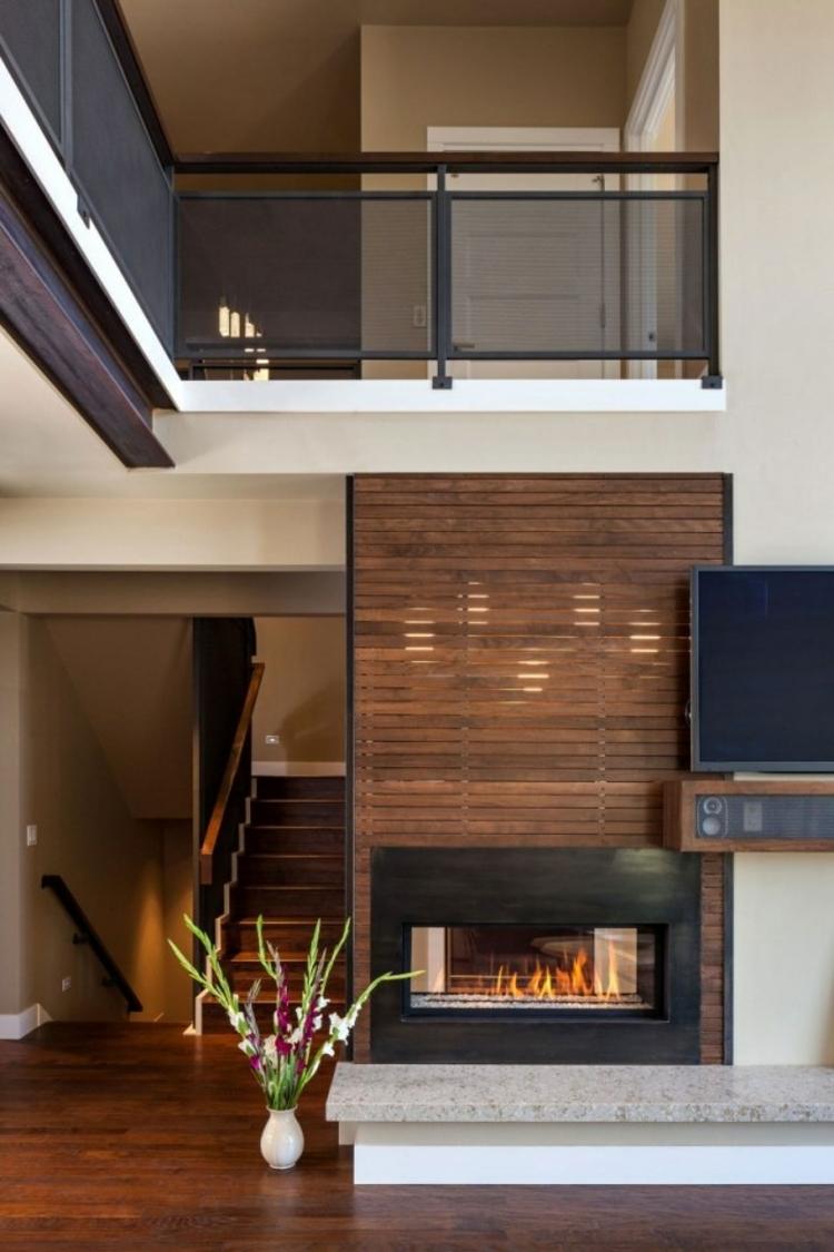 camini moderni design classico colori caldi