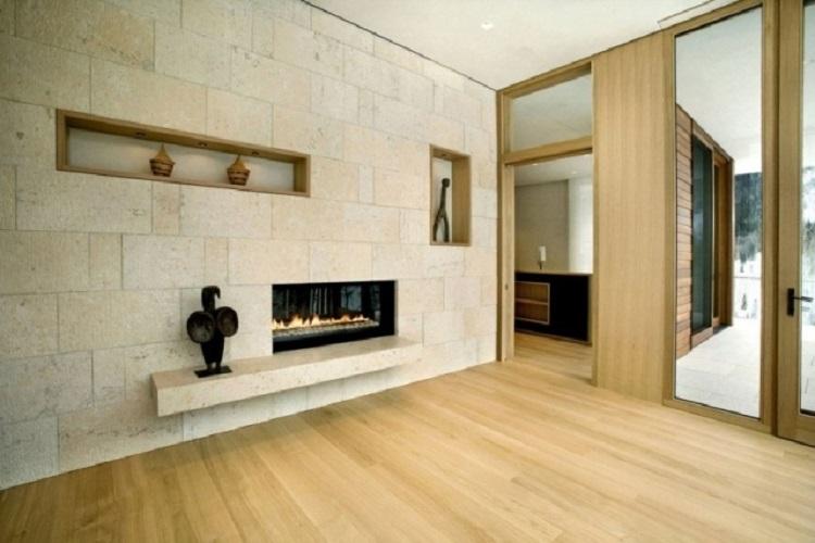 camino casa idea arredamento stile classico colori caldi