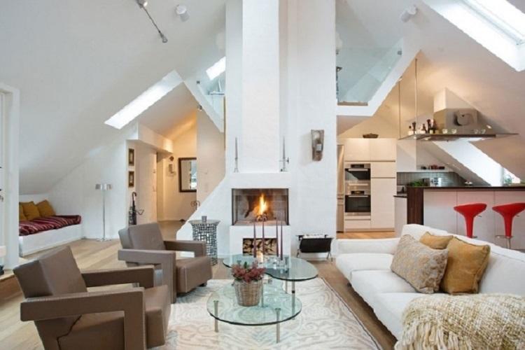 camino casa idea particolare arredamento stile moderno