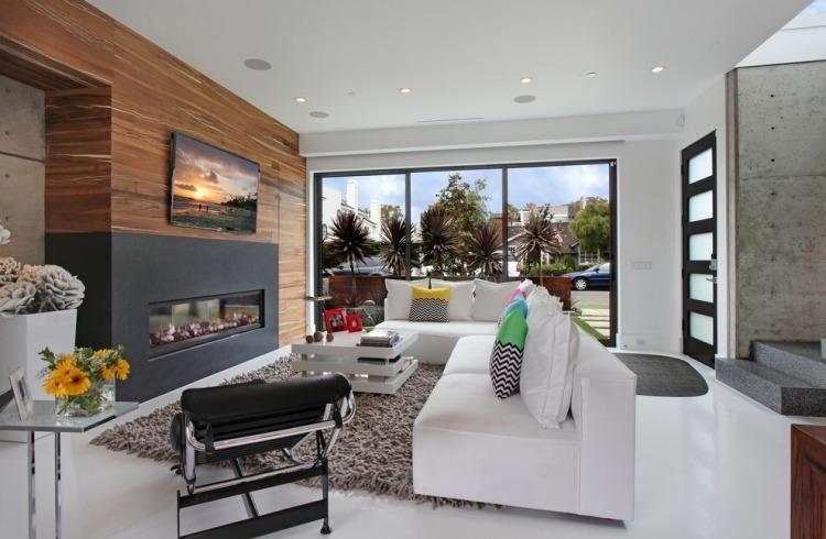 camino moderno soggiorno porta tv schermo piatto sopra