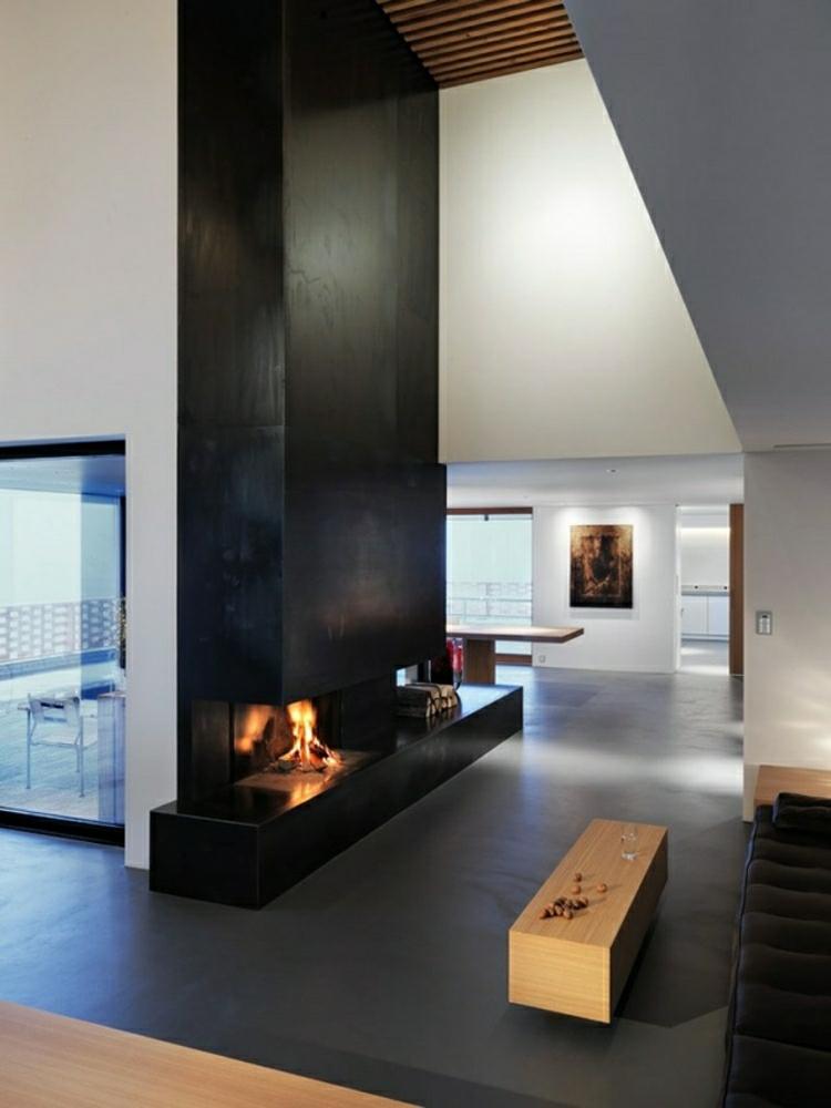 camino particolare soggiorno stile moderno