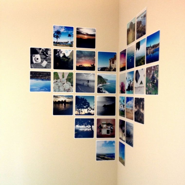 collage foto idea particolare parete