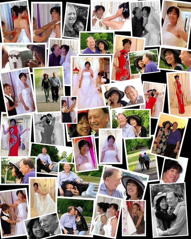 collage foto varie scene matrimonio