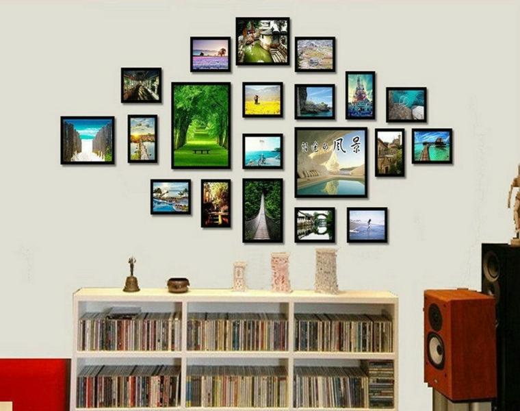 collage idea vivace colorata parete