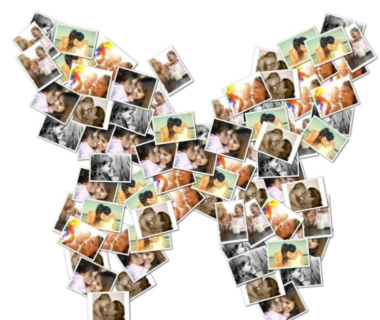collage suggerimento originale arrangiare foto parete