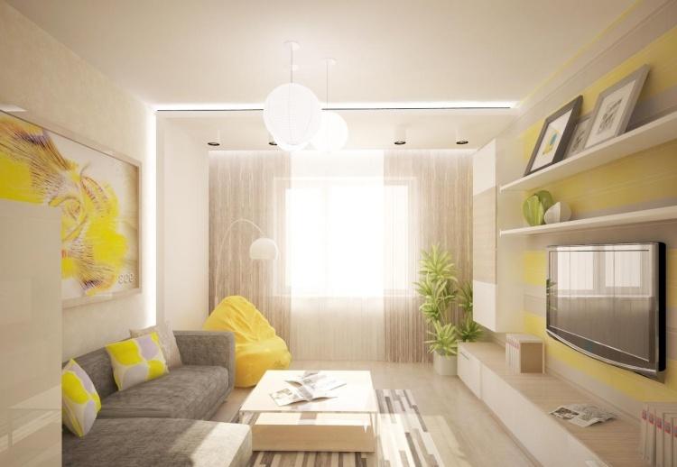 Saloni moderni il gioco delle tonalit calde fredde e for Colori soggiorno 2017