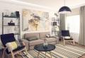 Saloni moderni – il gioco delle tonalità calde, fredde e neutre sulle pareti