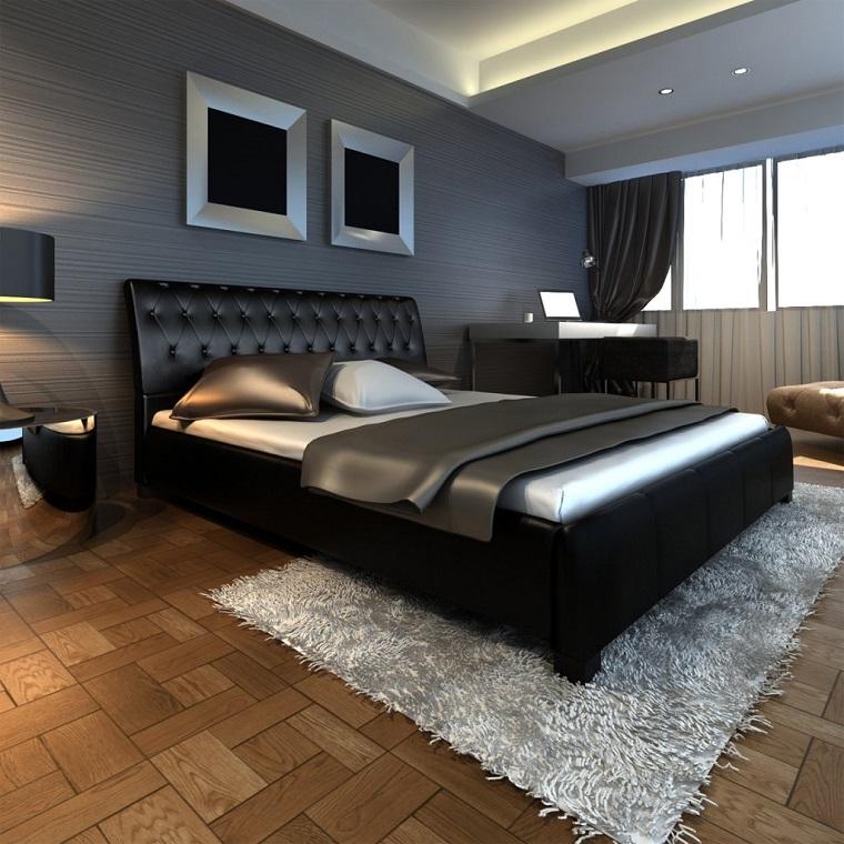 colori pareti sfumature diverse grigio letto nero