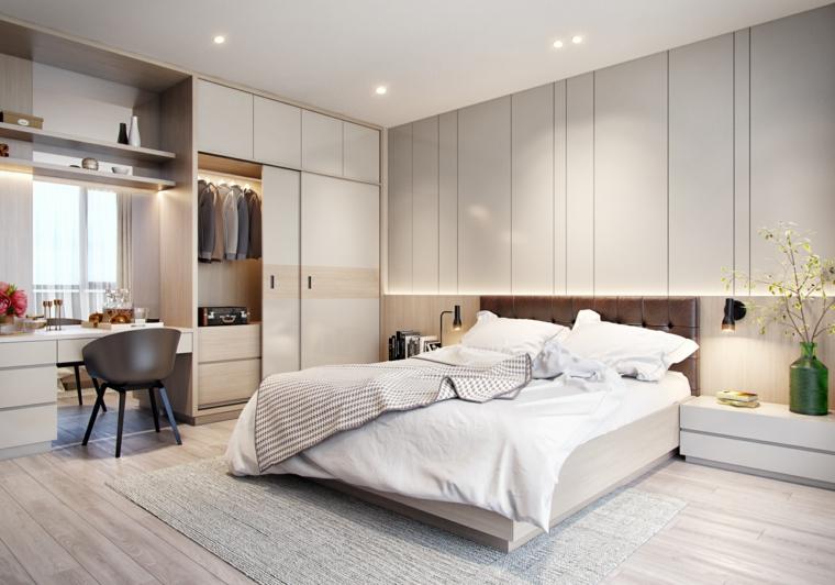 Colori camera da letto, armadio con retro illuminazione, armadio a muro, armadio con porte scorrevoli