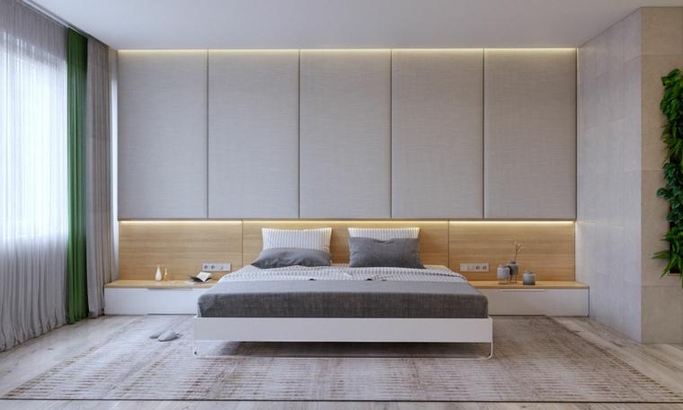 Come abbellire camera da letto, parete con giardino verticale, parete con luci integrate