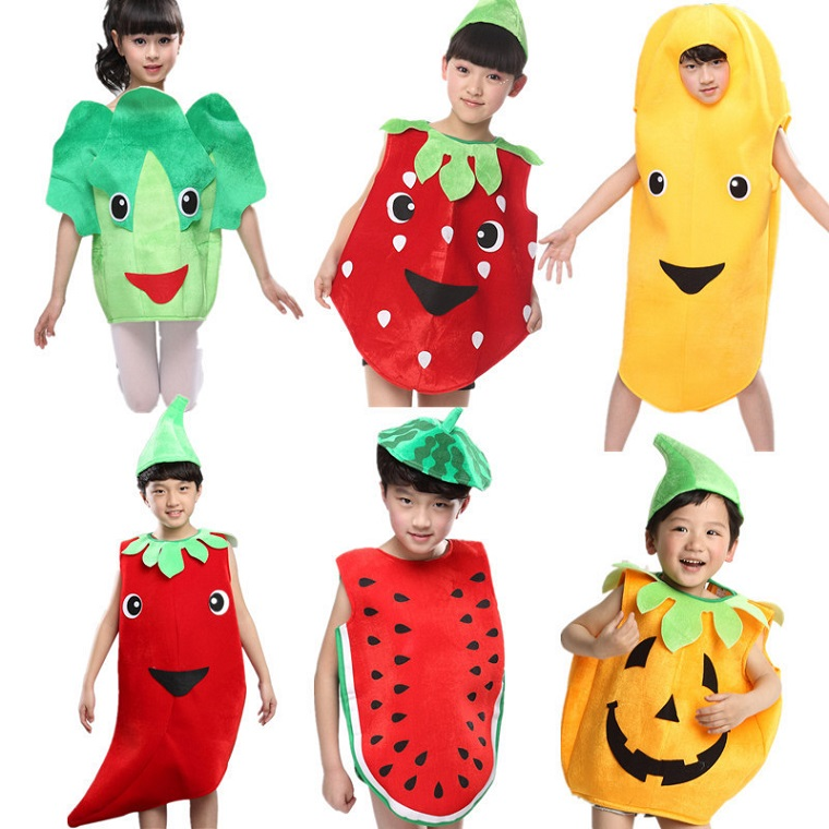 costumi carnevale bambini frutta verdura