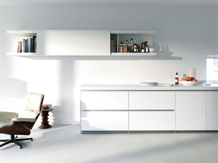 cucina bianca design moderno minimal