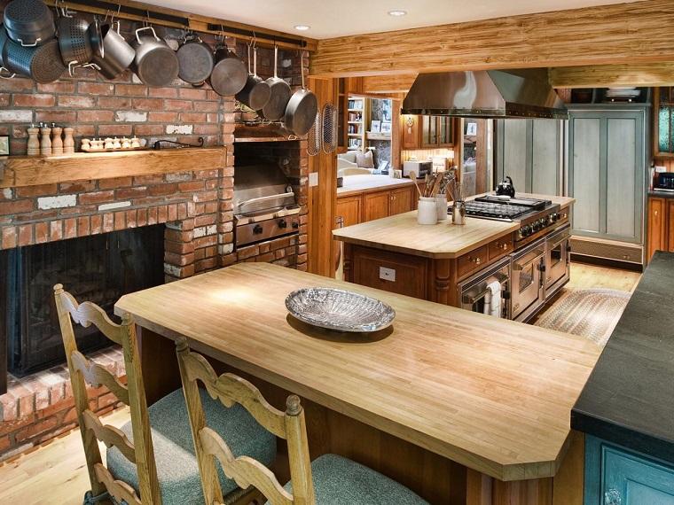cucina country sala pranzo mobili legno