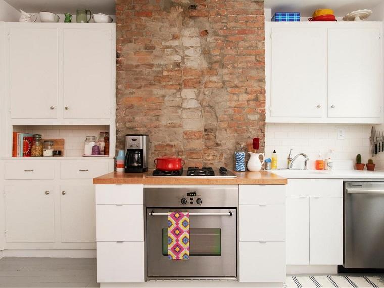 cucine in muratura mobili bianchi laccati