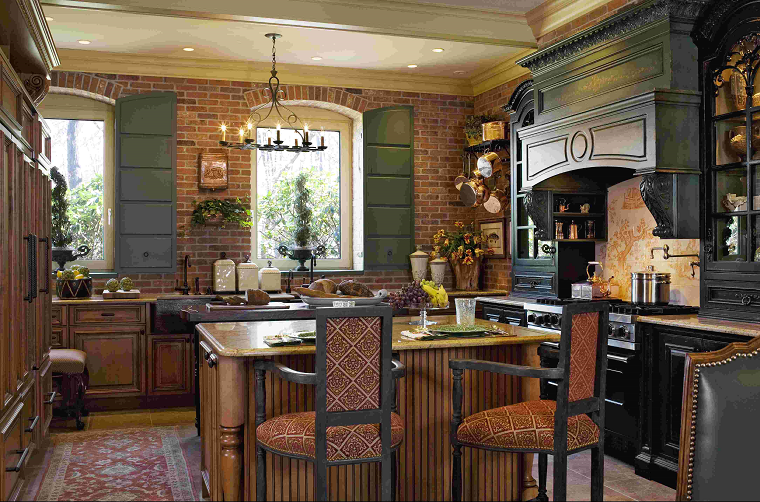 cucine in muratura mobili neri marroni