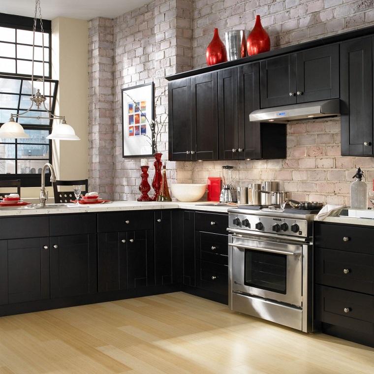 cucine in muratura mobili neri