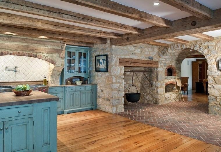 Cucine in muratura rustiche idee per la casa in campagna for Immagini di case rustiche
