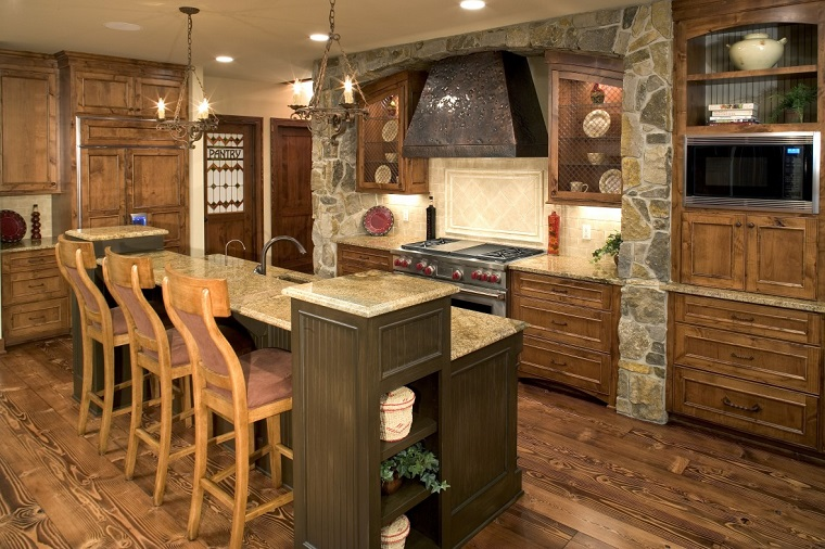 cucine in muratura stile rustico