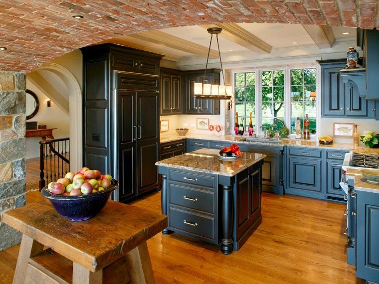 cucine muratura mix stile moderno rustico