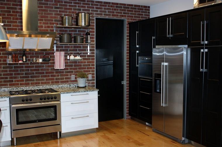 cucine muratura mobili bianchi neri