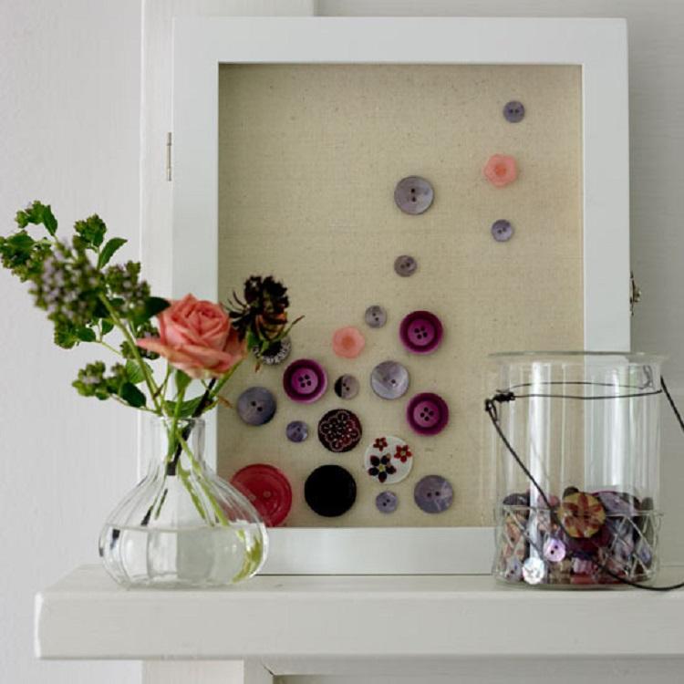 decorazione colorata fresca casa bottoni