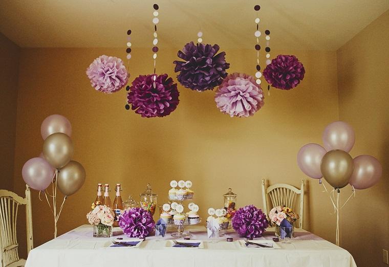 decorazioni compleanno fai da te tavola palloncini cup cake