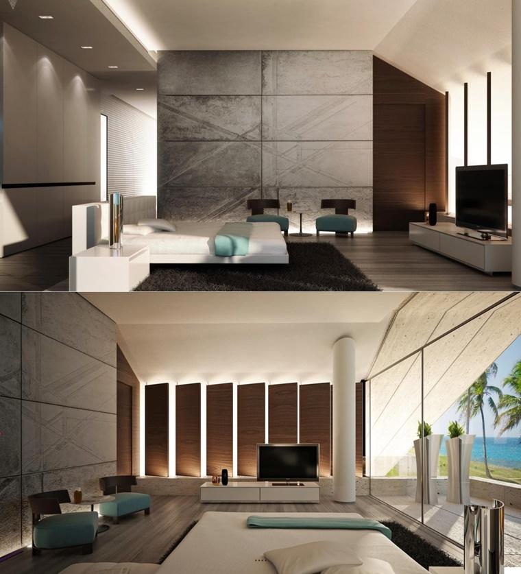 design moderno camera letto ambiente molto grande