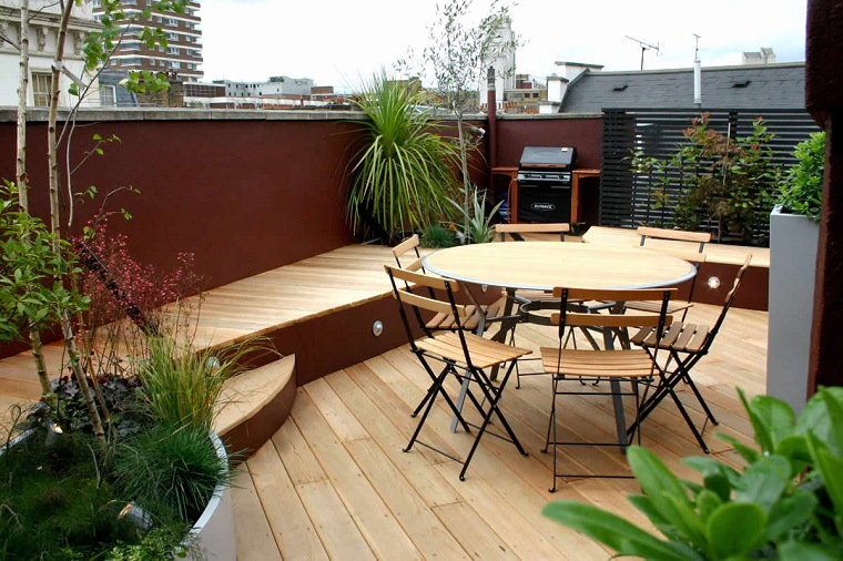 design rustico moderno arredare terrazzo