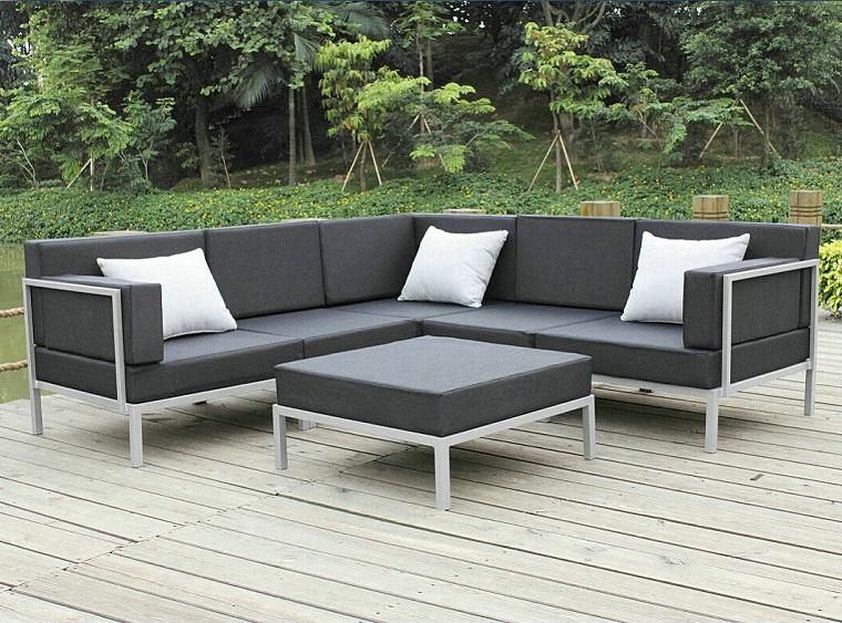 Set da giardino 24 idee comode e di tendenza per arredare for Divani per esterno