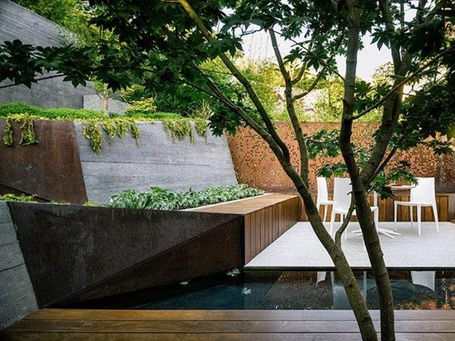 giardini moderni recinto design particolare arredi plastica