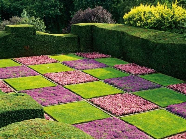 giardino italiana struttura scacchiera aiuole quadrate bosso