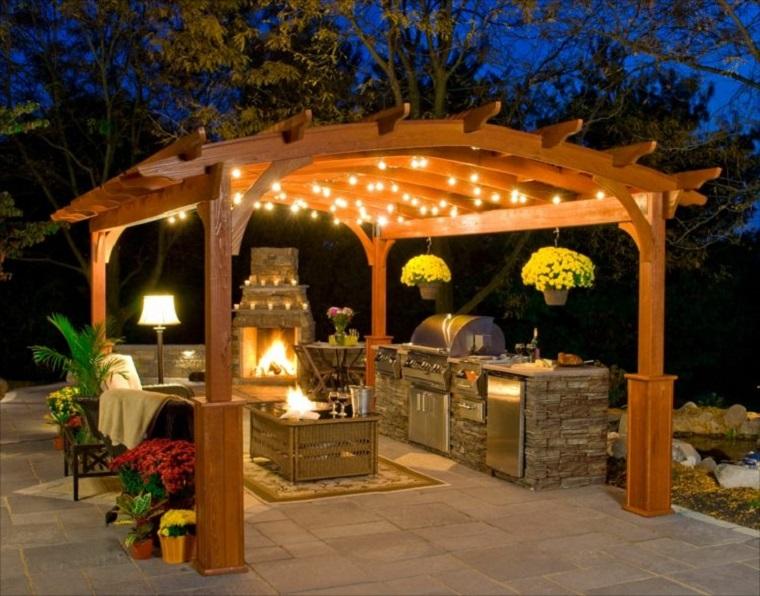 giardino originale particolare suggerimento barbecue muratura